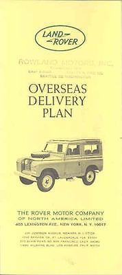 1964 1965 ? Land Rover Overseas Delivery Brochure wp8301-1QLMQL