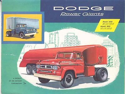 1958 Dodge 800 & 900 Tractor Trailer Truck Brochure wp9511-OIOZNG