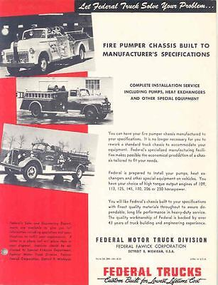 1953 Federal Fire Truck Brochure Greens Bayou wp9893-4FPC7K