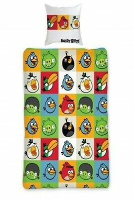 Angry Birds Rotary Single Bed Duvet Quilt Cover Set Brand New Gift