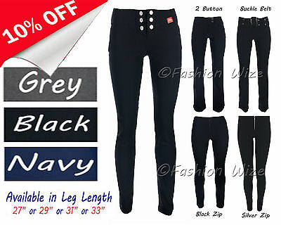 Girls Black Grey School Trousers Sizes 4-16 Miss Sexies Miss Chief Bootcut