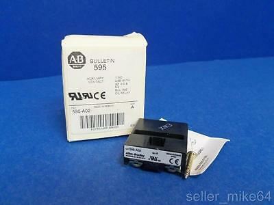 Allen Bradley 595-A02 Series A Auxiliary Contact, New