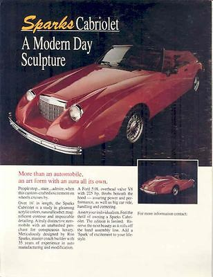 1985 ? Sparks Cabriolet Neo-Classic Brochure wo4072-2UR93Z