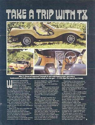 1972 Tripper TX Triumph GT6 Dune Buggy Kit Car Brochure wo4124-YFKVRH