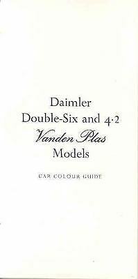 1974 1975 1976 Daimler V12 & 6 Paint Leather Brochure wo4259-YNXLBV