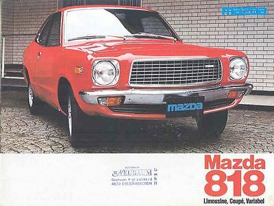 1978 Mazda 818 1300 1600 Brochure German wo5112-QJVBYW