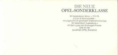 1965 ? Opel Commodore Coupe Mailer Brochure German wo6410-N55G2I