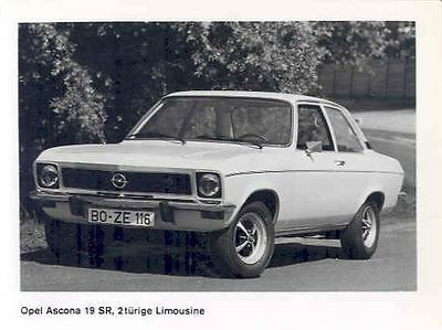 1974 Opel Ascona 19SR ORIGINAL Factory Photo wo6537-8JD1PS