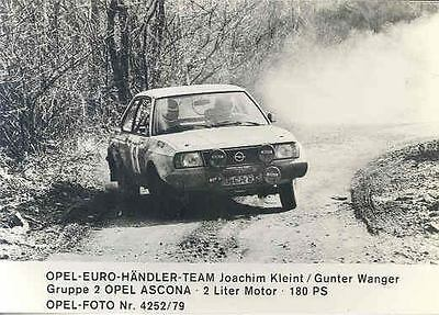 1979 Opel Ascona Group 2 Kleint Rallye ORIGINAL Factory Photo wo6649-UPCGUA