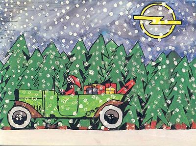 1960 ? Opel Factory Christmas Card Children's Contest wo7036-AWQDBC