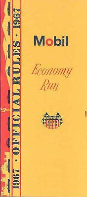 1967 Mobil Economy Run Entrant USAC Rule Book Brochure wo7883-SDXRSL
