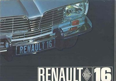 1966 Renault 16 Brochure Poster French wo8380-EYFOX9