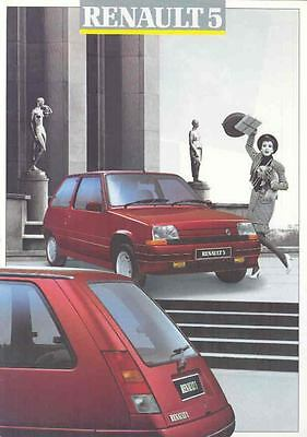 1955 Renault 5 & GT Turbo Brochure French wo8877-YB813G
