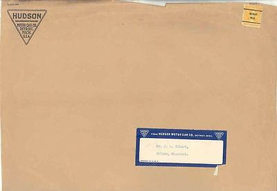 1937 Hudson Factory Envelope Piece With Label wo9777-FNM869