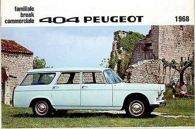 1968 Peugeot 404 Station Wagon Brochure French wq2138-RSZ1XH