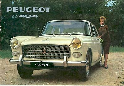 1962 Peugeot 404 Saloon Berline Brochure French wq2839-NTD5AA