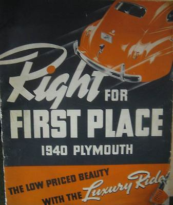 1940 Plymouth Dealer Showroom Announcement Brochure wq3174-Z6DJX6