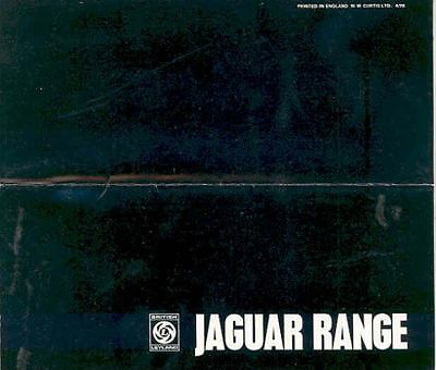 1970 Jaguar XKE XJ6 420G Brochure Right Hand Drive wq3962-964PLP