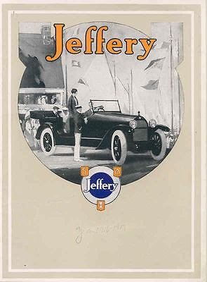 1916 1917 ? Jeffery Six Brochure Rambler wq4267-IWV81I