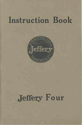 1914 1915 Jeffery Four Owner's Manual Rambler wq5454-Z4P36U