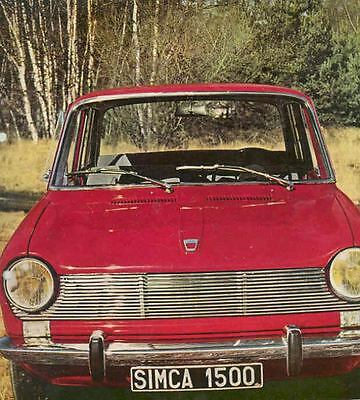 1965 Simca 1500 Brochure German wq7290-K4H7TO