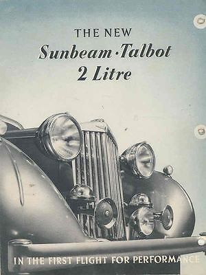 1940 Sunbeam Talbot Two Litre Brochure Poster wq7515-6CP5YJ