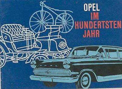 1862 Thru 1962 Opel History Brochure German wq7583-4J3ATF