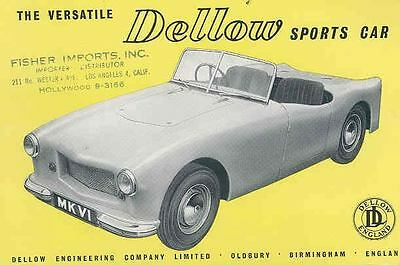 1959 Dellow Mark VI Sports Car LAST Brochure wq7628-MZSSHR