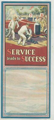 1930 ? Race Car Blotter Indy 500 Unused Blotter Service Leads to Success ws0683-