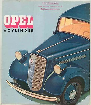 1934 Opel 2000 Six Brochure Poster German ws0992-O7ZQ85
