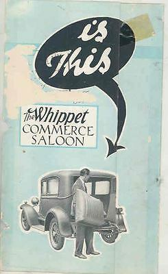 1933 Willys Whippet Commercial Saloon Brochure England ws1051-I4F9V4