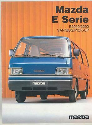 1984 Mazda E2000 E2200 Van Station Wagon Bus Pickup Truck Brochure Dutch ws2187-