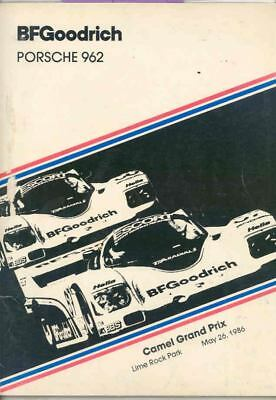 1986 Porsche 962 Race Car Goodrich Camel IMSA GP Lime Rock Press Kit ws2752