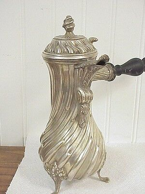 Ornate Old Continental 835 Silver Chocolate Pot