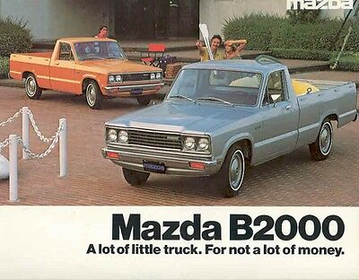 1979 Mazda B2000 Pickup Truck Brochure we369-5ZWWL8