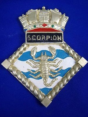 "HMS Scorpion, Ships Crest, Aluminium, 8x6.5"" One Off Casting, Weapon Destroyer"