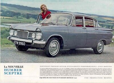 1966 Humber Scepter Sales Brochure French wb2325-1AWUPR