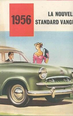 1956 Standard Vanguard III Sales Brochure French wb3427-3WBQYE