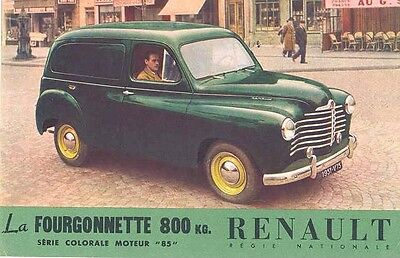 1951 Renault Sedan Delivery Sales Brochure wx4047-V57TEM