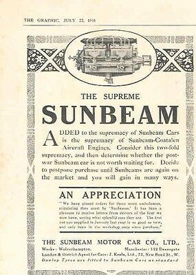 1916 Sunbeam Magazine Advertisement wx8175-NW4CEO
