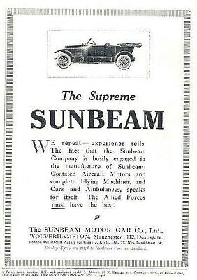 1916 Sunbeam Magazine Advertisement wx8182-NB51XS