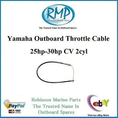 A Brand New Throttle Cable Suits Yamaha 25hp-30hp 2/stroke 2cyl # R 61N-26311-00