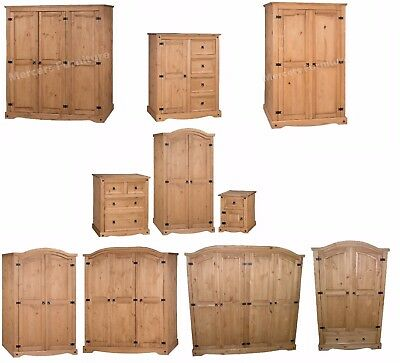 Mercers Furniture® Corona Mexican Wardrobe Range | 1 2 3 4 Door