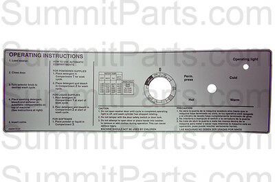 Instruction Decal For Wascomat Gen5 - 290101