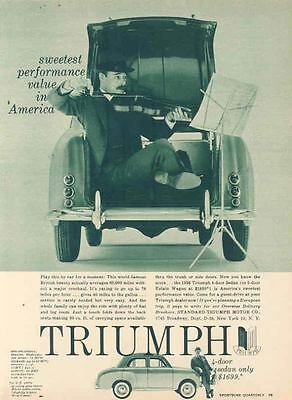 1958 Triumph Sedan Magazine Ad wn1543-WIADXS