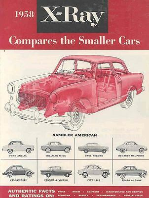 1958 AMC Rambler vs VW Beetle Fiat Vauxhall Brochure  wn203-7YZHNU