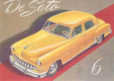 1952 DeSoto Six Brochure Poster Export Spanish wn4362-GSDADC