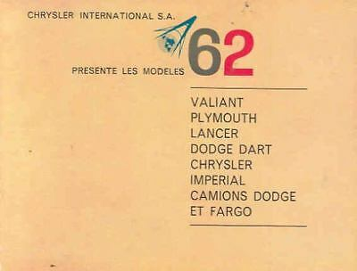 1962 Plymouth Dodge Chrysler Imp. Brochure Switzerland  wn4502-ONY8ZS