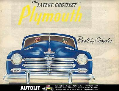 1946 Plymouth Brochure Poster Canada wn6168-JD8894