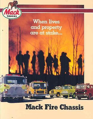 1985 Mack MS R MC CF Fire Truck Brochure wn6266-4PQSOD